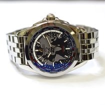Breitling Galactic Unitime 42mm Stainless Steel Mens Watch WB3510