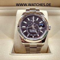 Rolex Oyster Perpetual Sky Dweller Black Dial Steel - 326934