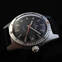Edox 36mm Automatik 1965 gebraucht Schwarz