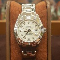 Rolex Or blanc Remontage automatique nouveau Lady-Datejust Pearlmaster