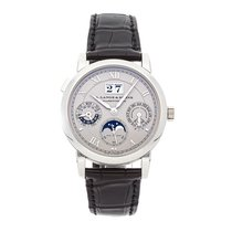 A. Lange & Söhne Langematik Perpetual Platinum 38.5mm Silver Roman numerals United States of America, Pennsylvania, Bala Cynwyd