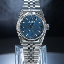 勞力士 Oyster Perpetual 鋼 31mm 藍色 阿拉伯數字