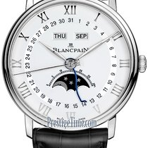 Blancpain new Automatic Central seconds Tempered blue hands 40mm Steel