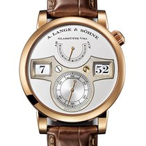 A. Lange & Söhne Rose gold Manual winding Silver Arabic numerals 42mm new Zeitwerk