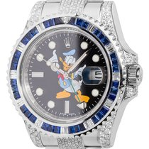 Rolex GMT-Master II Steel Diamond Set with Donald Duck Dial...