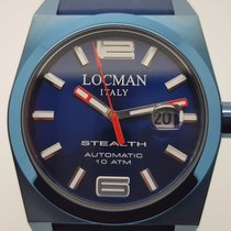 Locman MEN'S STEALTH BLUE RUBBER STRAP AUTOMATIC WATCH