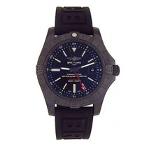 Breitling Avenger II GMT Black PVD Stainless Steel Automatic...