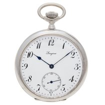 Longines antique silver pocket watch