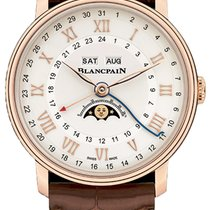 Blancpain Villeret Moonphase Rose gold 40mm Silver United States of America, New York, Airmont