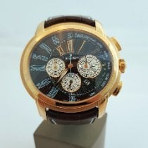 Audemars Piguet Millenary Chronograph pre-owned 47mm Brown Chronograph Date Crocodile skin