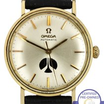 Omega Yellow gold Automatic Silver 34mm pre-owned Genève