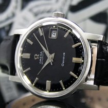 Omega Steel Automatic Black No numerals 34mm pre-owned Genève
