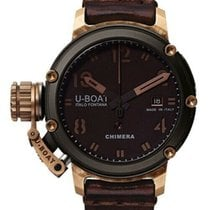 U-Boat Chimera pre-owned 43mm Bronze Date Leather