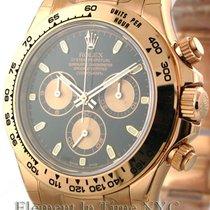 Rolex Daytona 18k Rose Gold Black Dial