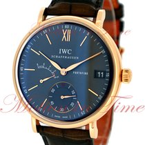 IWC Rose gold Manual winding Roman numerals 45mm new Portofino Hand-Wound