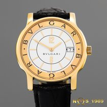 Bulgari Solotempo Ouro amarelo 35 mm without crownmm Branco Árabes
