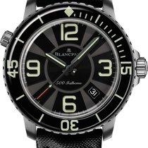 Blancpain 500 Fathoms nuevo 2021 Automático Reloj con estuche y documentos originales 50015-12b30-52b