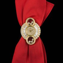 Chopard Alta Moda Ladies 18k Yellow Gold Pave Diamond Set