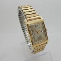 Bulova 7AK 14K Yellow Gold Diamond Dial Automatic 17j Swiss Watch