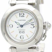 Cartier Pasha C Big Date Steel Automatic Unisex Watch W31044m7...