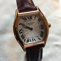Cartier 34mm Manual winding 2000 pre-owned Tortue Silver