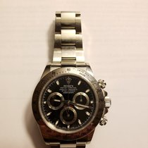 Rolex Cosmograph Daytona Men's Steel Watch 116520 40mm Black Dial