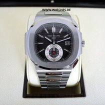 Patek Philippe Nautilus Chronograph Steel Black Dial -...