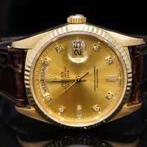 Rolex 1990 36mm Day-Date, Diamond Dot, 18238, Boxed