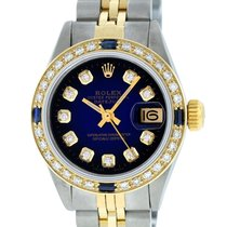 Rolex Datejust Acier 26mm Bleu