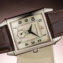 Girard Perregaux White gold Manual winding Silver Arabic numerals 29,5mm pre-owned Vintage 1945