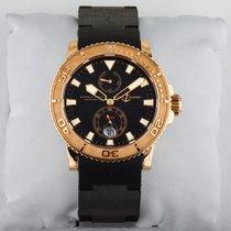 율리세 나르딘 옐로우골드 42.7mm 자동 중고시계
