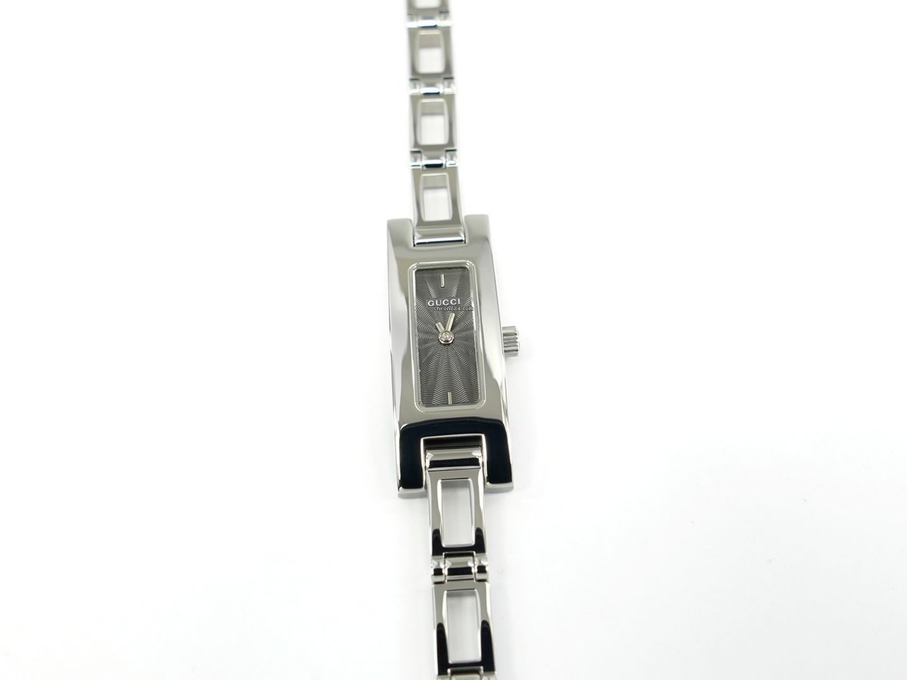 8660010f Gucci 3900L Grey Dial on Stainless Steel Bracelet