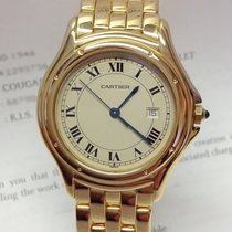 Cartier Cougar Yellow gold 33mm Silver Roman numerals United Kingdom, Wilmslow