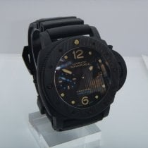Panerai 47mm Automatic pre-owned Luminor Submersible 1950 3 Days Automatic Black