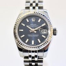 Rolex Lady-Datejust pre-owned 26mm Blue Date Steel