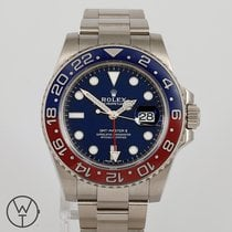 Rolex White gold Automatic 40mm pre-owned GMT-Master II