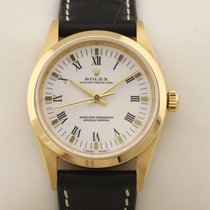 Rolex Oyster Perpetual Yellow gold 34mm White Roman numerals