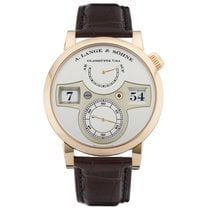 A. Lange & Söhne Red gold Manual winding Silver Arabic numerals new Zeitwerk