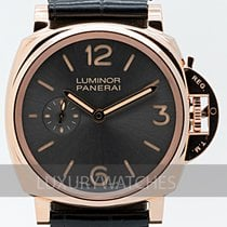 Panerai Oro rosado Cuerda manual Gris 42mm usados Luminor Due