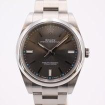 Rolex Oyster Perpetual 39 Stål 39mm Sølv Ingen tal