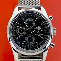 Breitling Transocean Chronograph 1461 Acero 43mm Negro Sin cifras