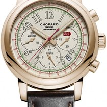 Chopard Rose gold Automatic White 42mm new Mille Miglia