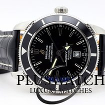 Breitling SuperOcean Heritage 46 mm Black Dial Leather