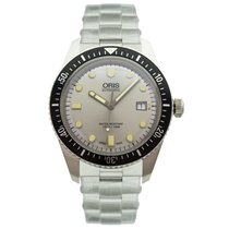 Oris 42mm Automatic new Divers Sixty Five Silver