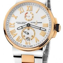 Ulysse Nardin Marine Chronometer Manufacture Золото/Cталь 45mm Cеребро Римские