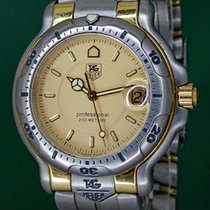 TAG Heuer 6000 Professional 39mm WH1151 Date 18k Yellow Gold...