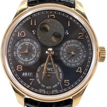 IWC Red gold Automatic Arabic numerals 44.2mm pre-owned Portuguese Perpetual Calendar
