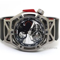 Hublot Techframe Ferrari Tourbillon Chronograph Titanio 45mm Transparente