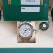 Rolex Sky-Dweller Acier 42mm Blanc Sans chiffres France, Thonon les bains