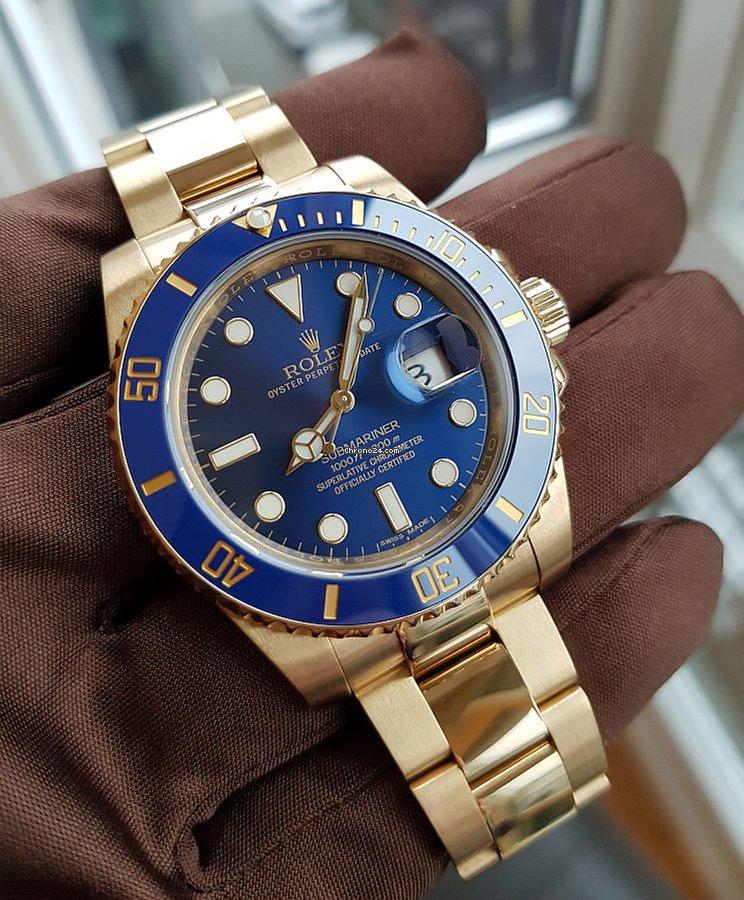 premium selection f07fb 63106 Rolex Submariner Date 116618lb sunburst dial - like new -